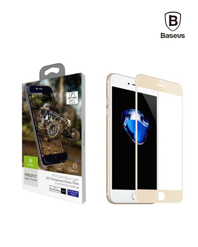 Baseus 0.23 mm PET Soft 3D Tempered Glass Film - iPhone 7 (SGAPIPH7-PE0V)