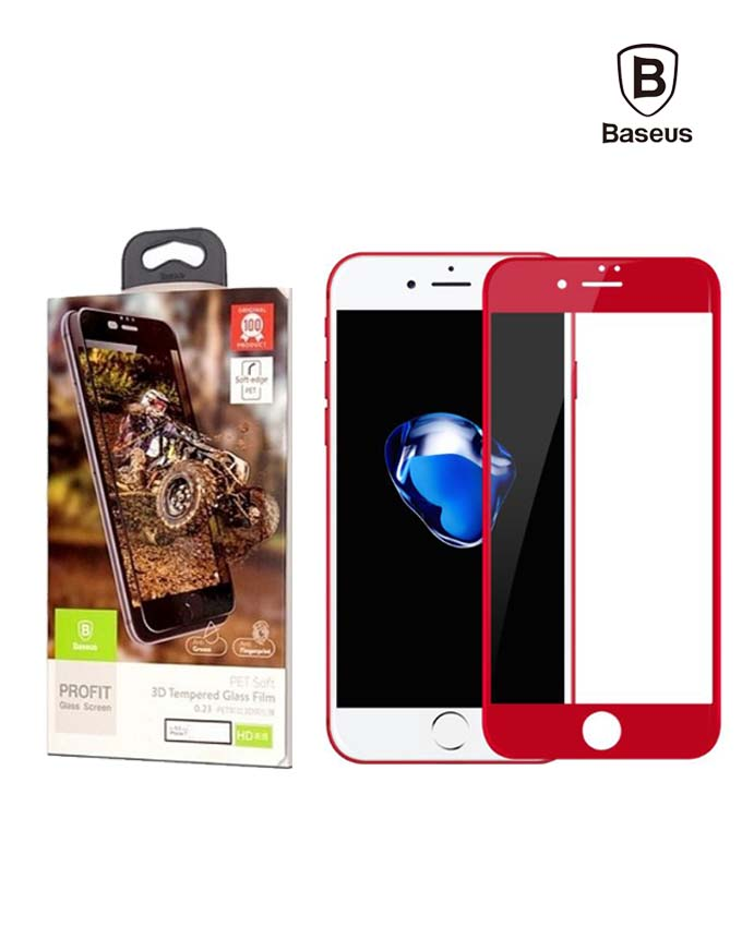 Baseus 0.23 mm PET Soft 3D Tempered Glass Film - iPhone 7 Plus (SGAPIPH7P-PE09)