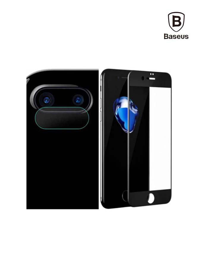 Baseus Glass Film Set iPhone 7/8 Plus - Black (SGAPIPH7P-TZ01)