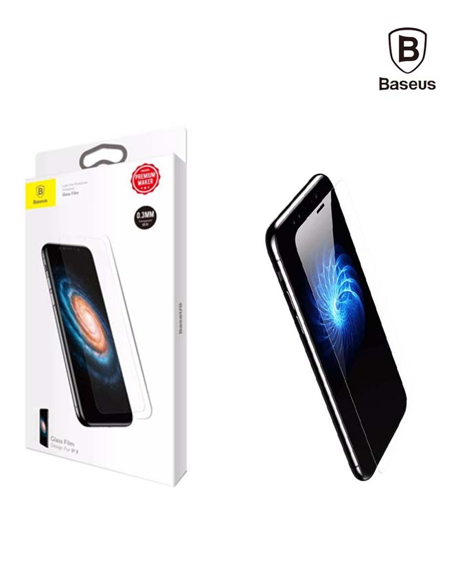Baseus Slim Tempered Glass 0.3mm for iPhone X - Transparent (SGAPIPHX-ESB02)