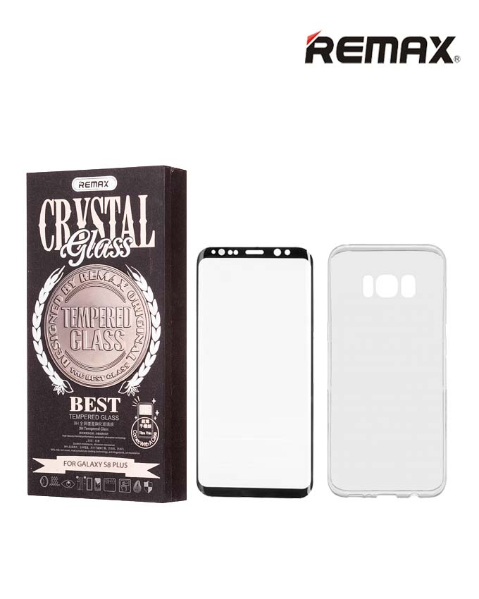 Remax Crystal Set of Tempered Glass & Phone Case - Samsung S8 Plus