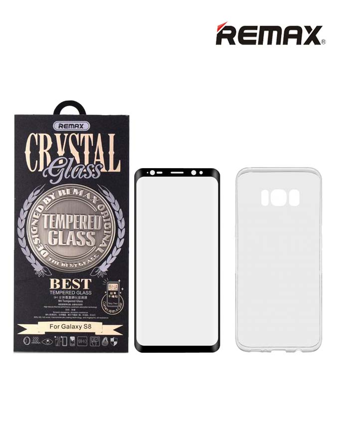 Remax Crystal Set of Tempered Glass & Phone Case - Samsung S8
